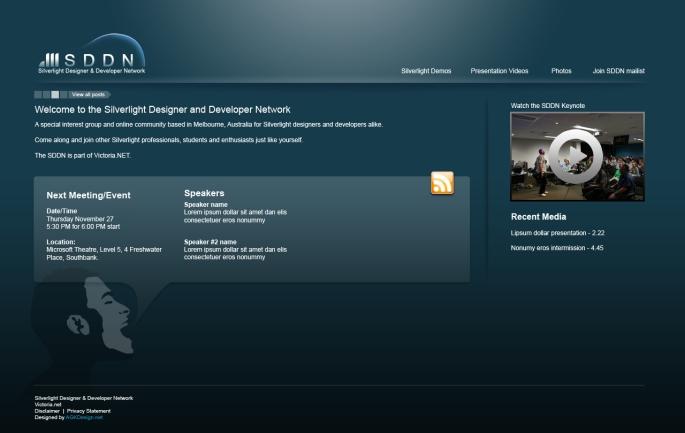 SDDN New Site Design